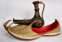 Arabic slippers Stock Images