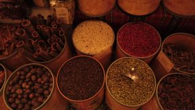 ARABIC SPICE MARKET stock video footage