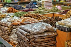 Arabic spices. These are some of arab famous spices which you can find in traditional markets in arab countries Stock Photos