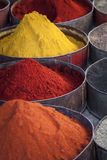 Arabic spices at traditional market. Morocco. Africa. Royalty Free Stock Photography