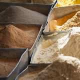 Arabic spices at traditional market. Morocco. Africa. Royalty Free Stock Photos