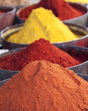 Arabic spices at traditional market. Morocco. Africa. Stock Images