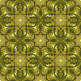 Arabic Stained Glass Seamless Pattern Stock Images