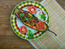 Arabic  stuffed Eggplant Royalty Free Stock Photos