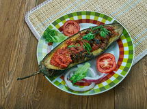 Arabic  stuffed Eggplant Royalty Free Stock Photography