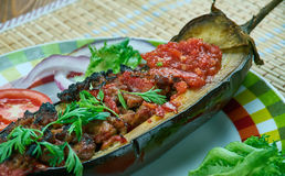 Arabic  stuffed Eggplant Stock Photography