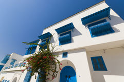 Arabic style building. White and blue Stock Photos