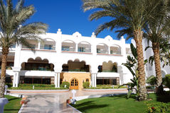 Arabic style building of luxury hotel Royalty Free Stock Photos
