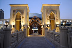 Arabic style buildings in Dubai Royalty Free Stock Photo