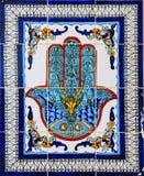 Arabic style ceramic wall decoration stock photo