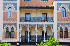 Arabic style. Detail of a wonderful house in arabic style in Seville, Spain Royalty Free Stock Photography