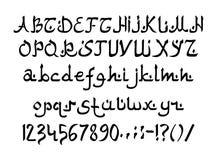 Arabic Style Font stock image