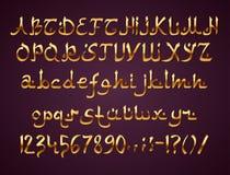 Arabic Style Font royalty free stock photo