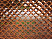 Arabic style garden wall. Brown terracotta Arabic style garden wall Royalty Free Stock Images