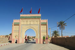 Arabic style gate in the city Royalty Free Stock Photos