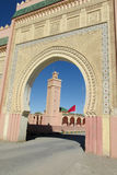 Arabic style gate and mosque minaret Stock Image