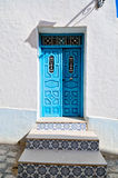 Arabic style house entrance. Decorated arabic style house entrance, Tunisia, Africa Stock Photography