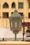 Arabic style lamp in dubai Royalty Free Stock Photo
