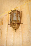 Arabic style lamp on the wall Royalty Free Stock Images
