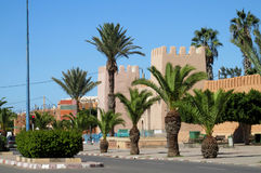 Arabic style medival castle walls in the city Stock Photo
