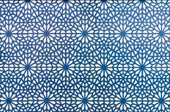 Arabic style pattern blue lines on white background vector illustration