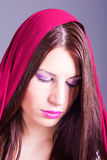 Arabic style portrait of a young beautiful woman Royalty Free Stock Images