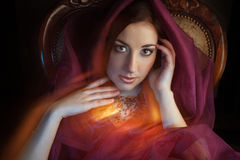 Arabic style portrait of a young beauty Stock Images
