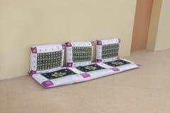 Arabic style seating arrangement Royalty Free Stock Photos