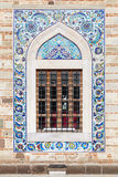 Arabic style tiling pattern, decoration of old mosque window Stock Photo