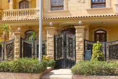 The arabic style villas. At modern City Stock Photography
