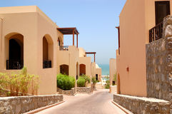 The Arabic style villas at luxury hotel Stock Images