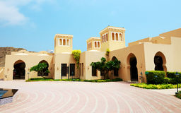 The arabic style villas in luxury hotel Stock Images