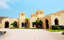 The arabic style villas in luxury hotel. Fujairah, UAE Stock Images