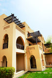 The arabic style villas in luxury hotel Royalty Free Stock Photo
