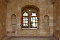 Arabic-style window. Arabic-style interior, Chouf region, Lebanon Stock Photos