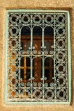 Arabic style window. In Marrakech building Royalty Free Stock Images