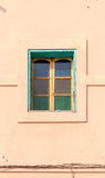 Arabic style windows in Marrakesh. Front elevation architecture. Arabic style windows in Marrakesh. Front elevation view on typical Morocco architecture Stock Photography