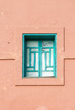 Arabic style windows in Marrakesh. Front elevation architecture. Arabic style windows in Marrakesh. Front elevation view on typical Morocco architecture Royalty Free Stock Photography