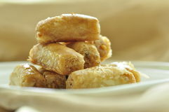 Arabic sweet- Baklava. Close up Stock Photo