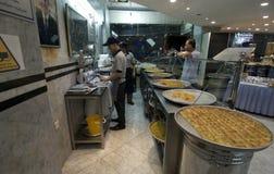 Arabic Sweet Shop. An Arabic sweet shop in Jordan Royalty Free Stock Photography