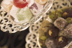 Arabic sweets. Served during Ramadan Royalty Free Stock Photos