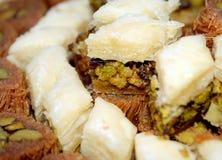 Arabic Sweets. An arabic baklava sweets closeup royalty free stock photography