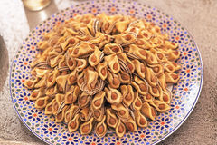 Arabic sweets. A dish of arabic sweets Royalty Free Stock Images