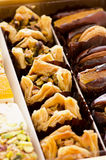 Arabic Sweets. As closeup on a box Royalty Free Stock Images
