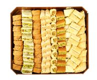 Arabic sweets in box Stock Photo