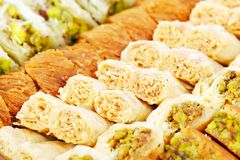 Arabic sweets with nuts Stock Images