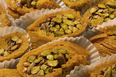 Arabic sweets. This is a photograph of Arabic sweets Stock Images