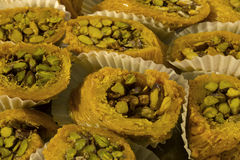 Arabic sweets. This is a photograph of Arabic sweets Stock Photo