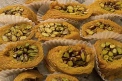 Arabic sweets. This is a photograph of Arabic sweets Stock Photos