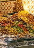 Arabic sweets. On a shelf of the souks of Marrakech in Morocco is an image vertical Stock Photo